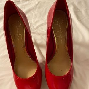 Red Shoes Jessica Simpson